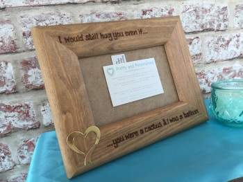Personalised wooden photo frame love Valentine's day