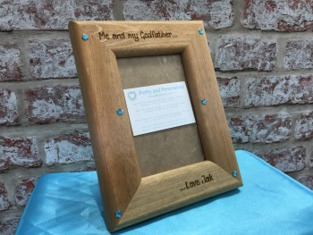 Personalised photo frame 'Me and My Daddy / Grandad'
