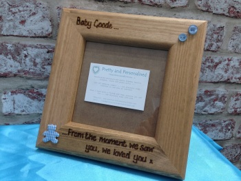 Baby Scan 'Loved you the from the moment we saw you' - Personalised Solid Wood Photo Frame