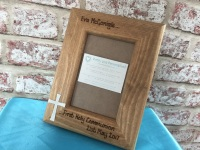 Personalised wooden Holy Communion photo frame