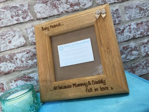 Mummy daddy fell in love personalised baby scan frame