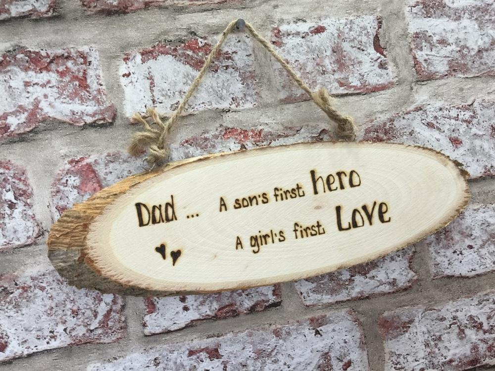 Dad Quote Engraved Personalised Wooden Plaque Sign