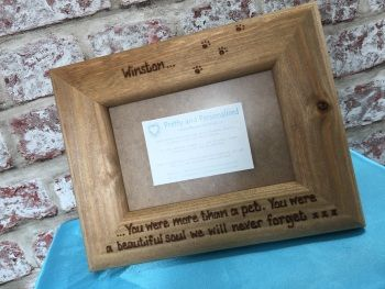Dog personalised photo frame more than a pet