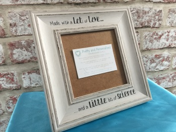 Vintage shabby chic IVF baby scan picture frame 5x5""