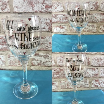 Design your own personalised wine glass