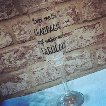 Design your own personalised champagne / prosecco glass