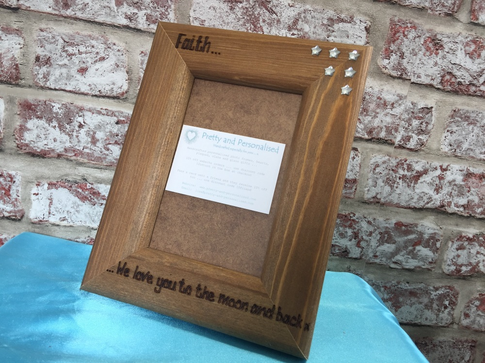 Moon And Back Personalised Photo Frame