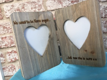 Memorial - Personalised Double Driftwood Photo Frame