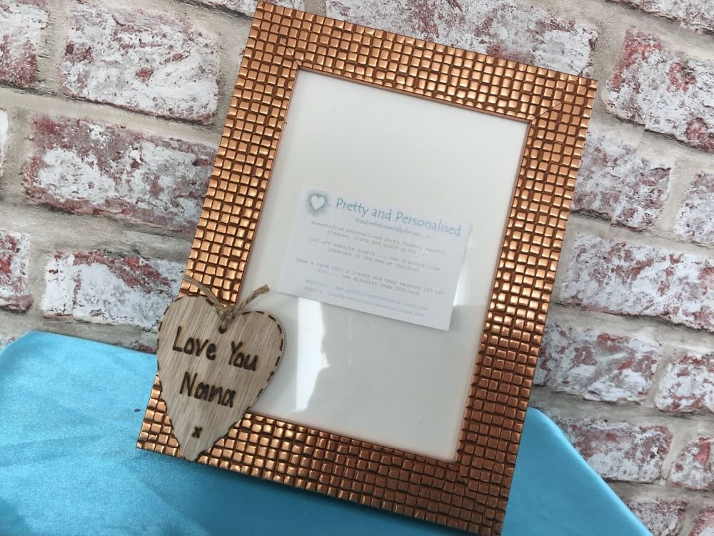 Bronze mosaic personalised photo frame