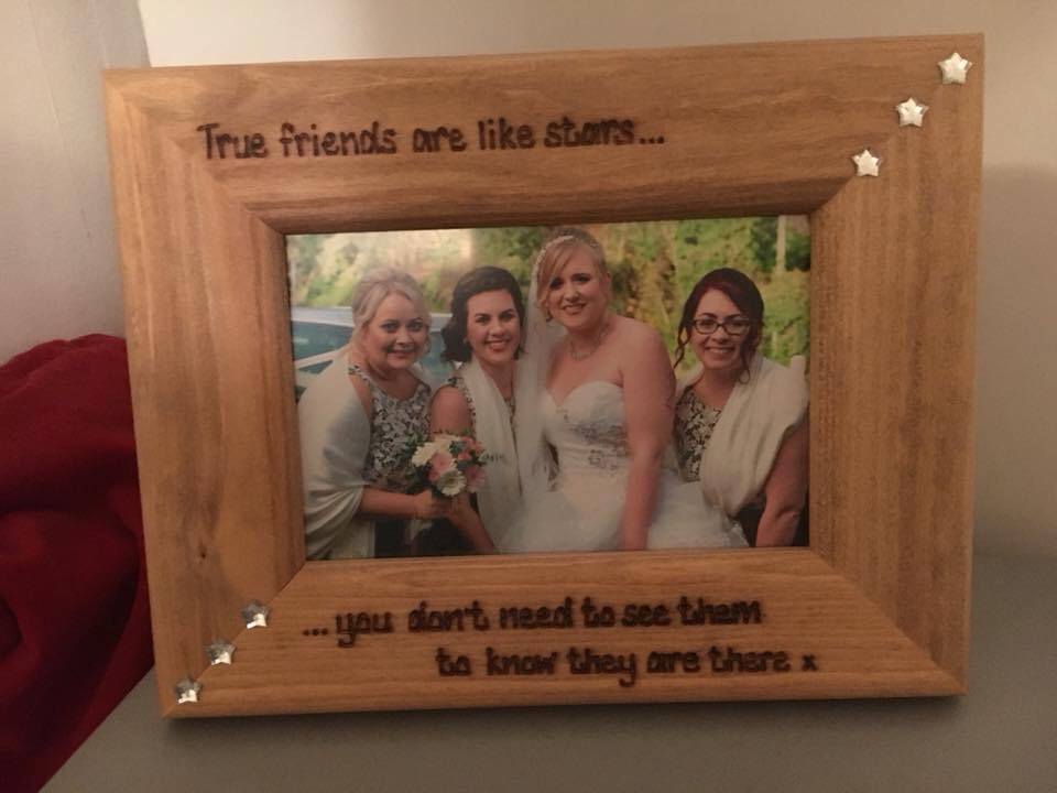 Best friends bridesmaid personalised photo frame
