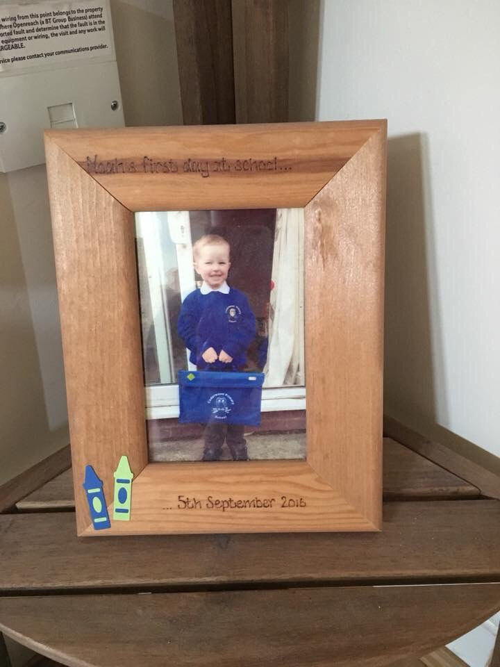First day of school personalised photo frame