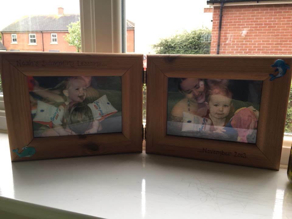 double personalised photo frame