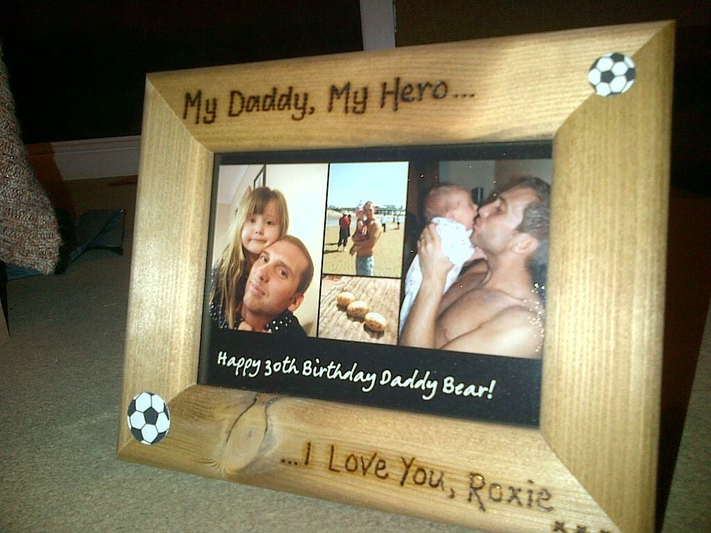 Daddy father's day photo frame personalised