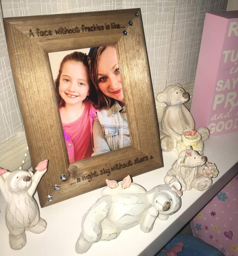 Personalised photo frames complete with special photos