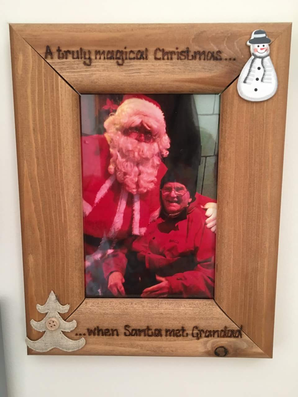 Christmas personalised photo frame