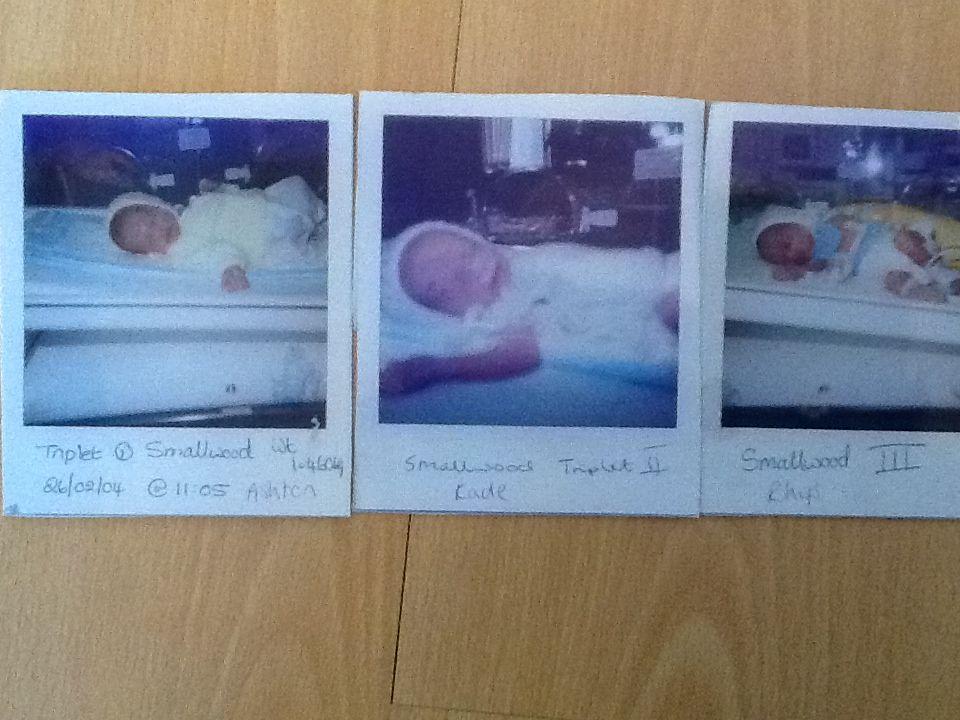 Newborn triplet boys
