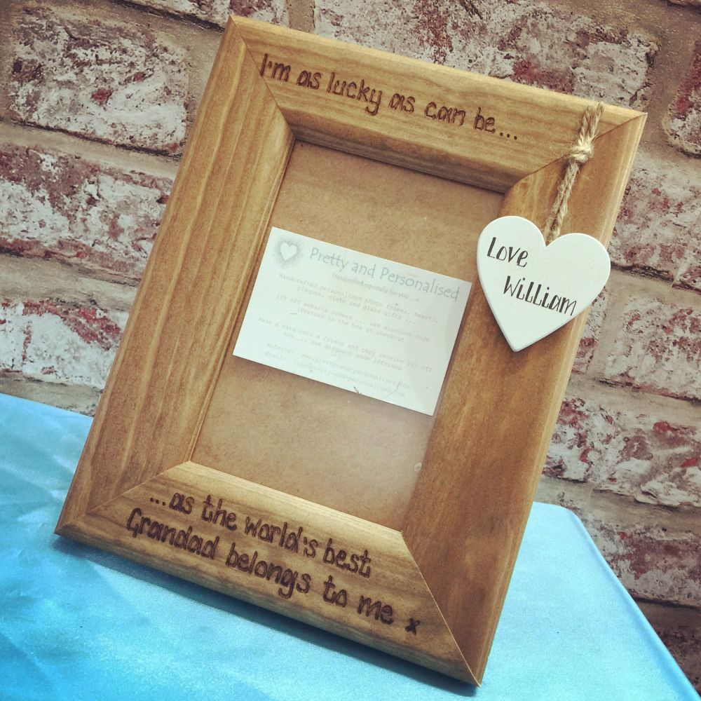 Grandad personalised photo frame