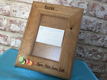 Caterpillar children's personalised photo frame