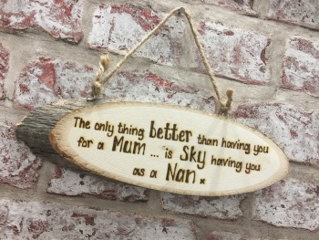 Personalised wooden plaque sign for mum / nan