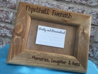Personalised PLAIN wooden photo frame