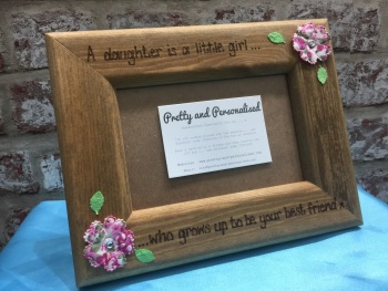 Personalised wooden photo frame daughter, best friend, mum