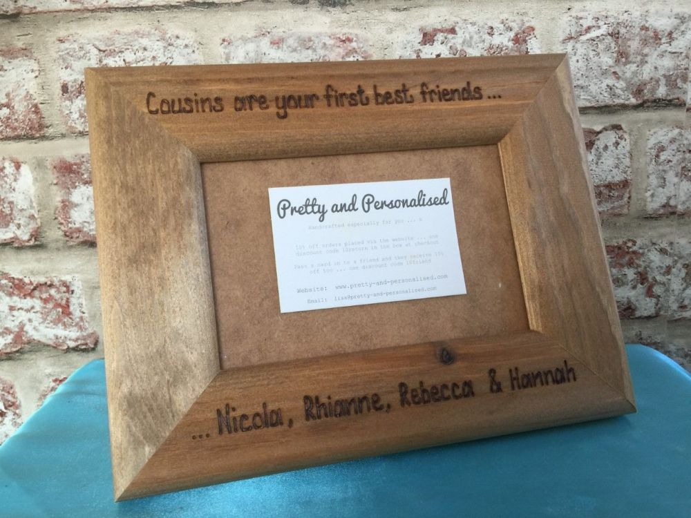 Special cousins personalised photo frame
