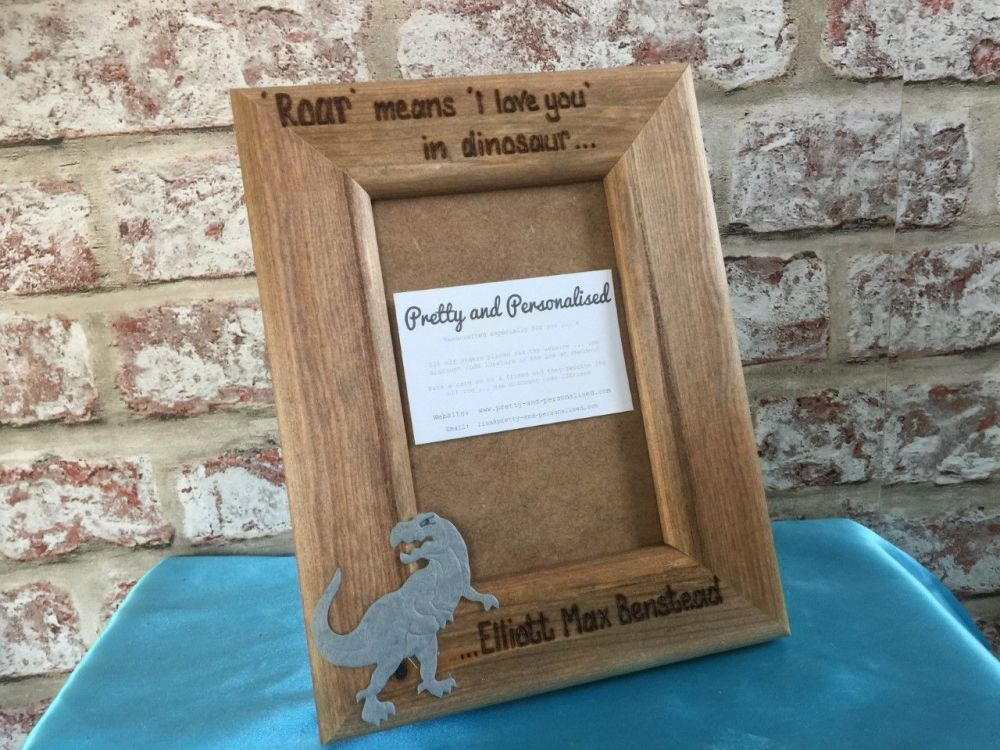 Roar means I love you personalised photo frame