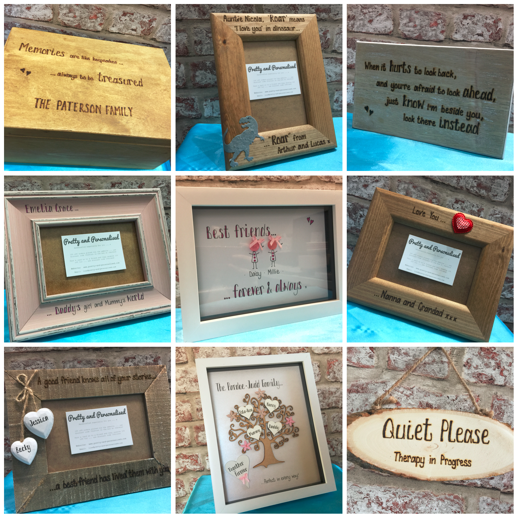 Personalised Gifts Available