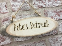 'Design your own' rustic personalised wooden plaque / sign