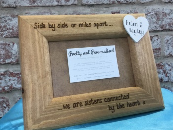 Side by side sister personalised photo frame