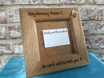 Personalised baby scan photo frame ~ Can't wait to meet you