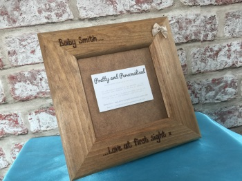 'Love at first sight' Baby Scan - Personalised Solid Wood Photo Frame