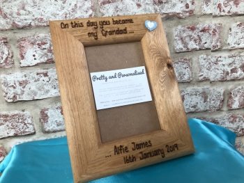 Personalised wooden photo frame for Grandad / Grandma