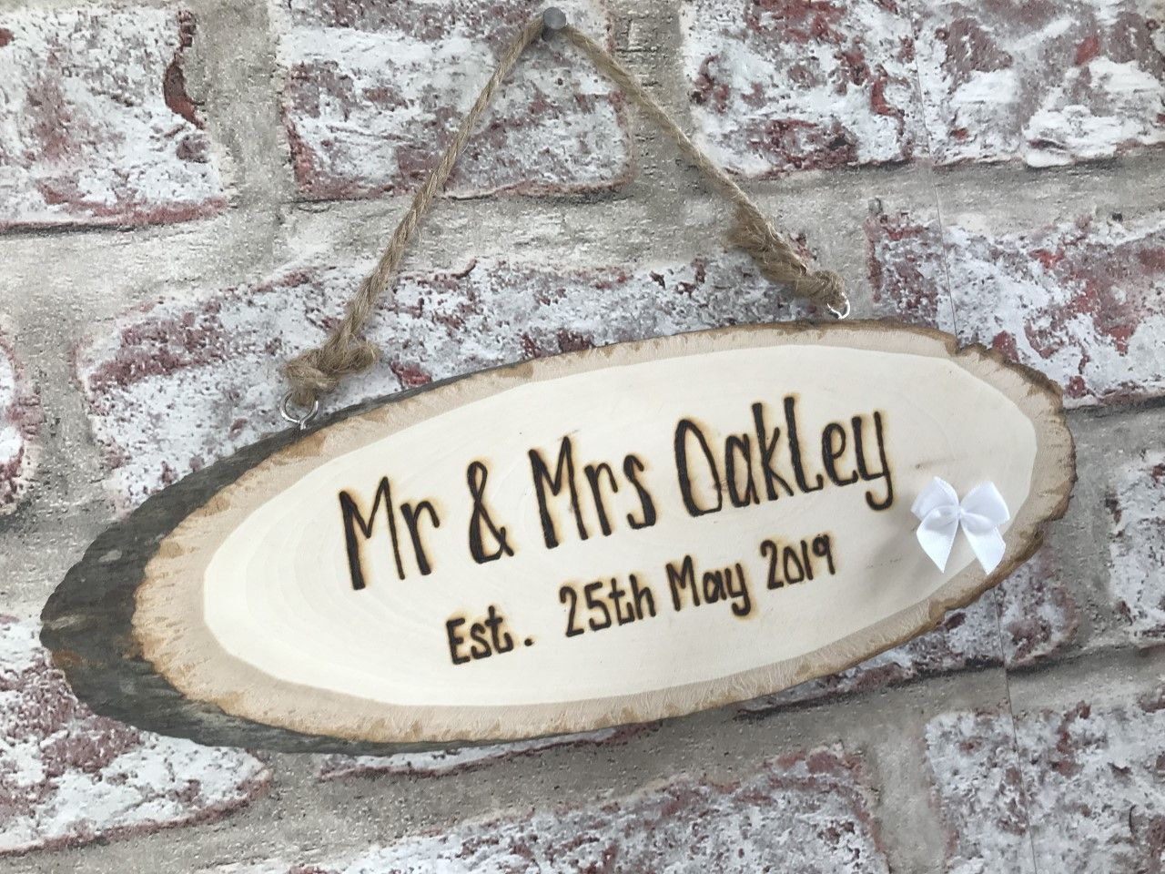 Mr and Mrs Wedding Plaque