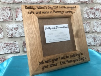 Personalised baby scan photo frame ~ Snuggled Mummy's tummy