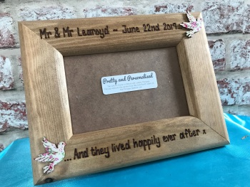 Personalised Mr & Mrs wedding photo frame