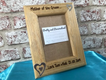 Personalised photo frame Father / Mother Bride / Groom Wedding