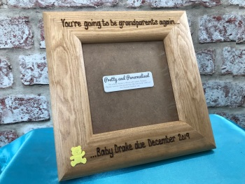 Baby Scan 'You're going to be grandparents again. . .' - Personalised Solid Wood Photo Frame