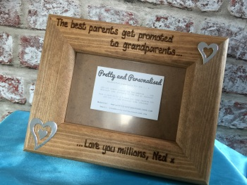 Best parents Grandparents personalised photo frame