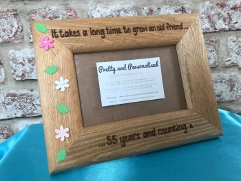 Engraved personalised photo frame for a special friend