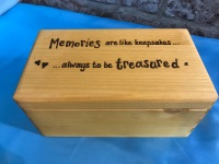 Personalised wooden memory boxes ~ 3 sizes available