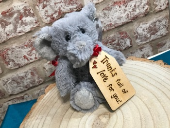 Personalised Elephant Plush Soft Toy