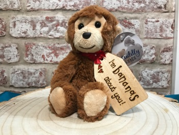 Personalised Monkey Plush Soft Toy With Engraved Tag