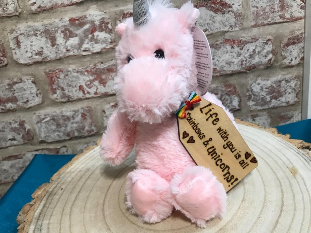 Personalised Unicorn Plushie Soft Toy