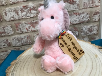 "Life Is All Rainbows And Unicorns - Personalised 8"" Unicorn Plush"