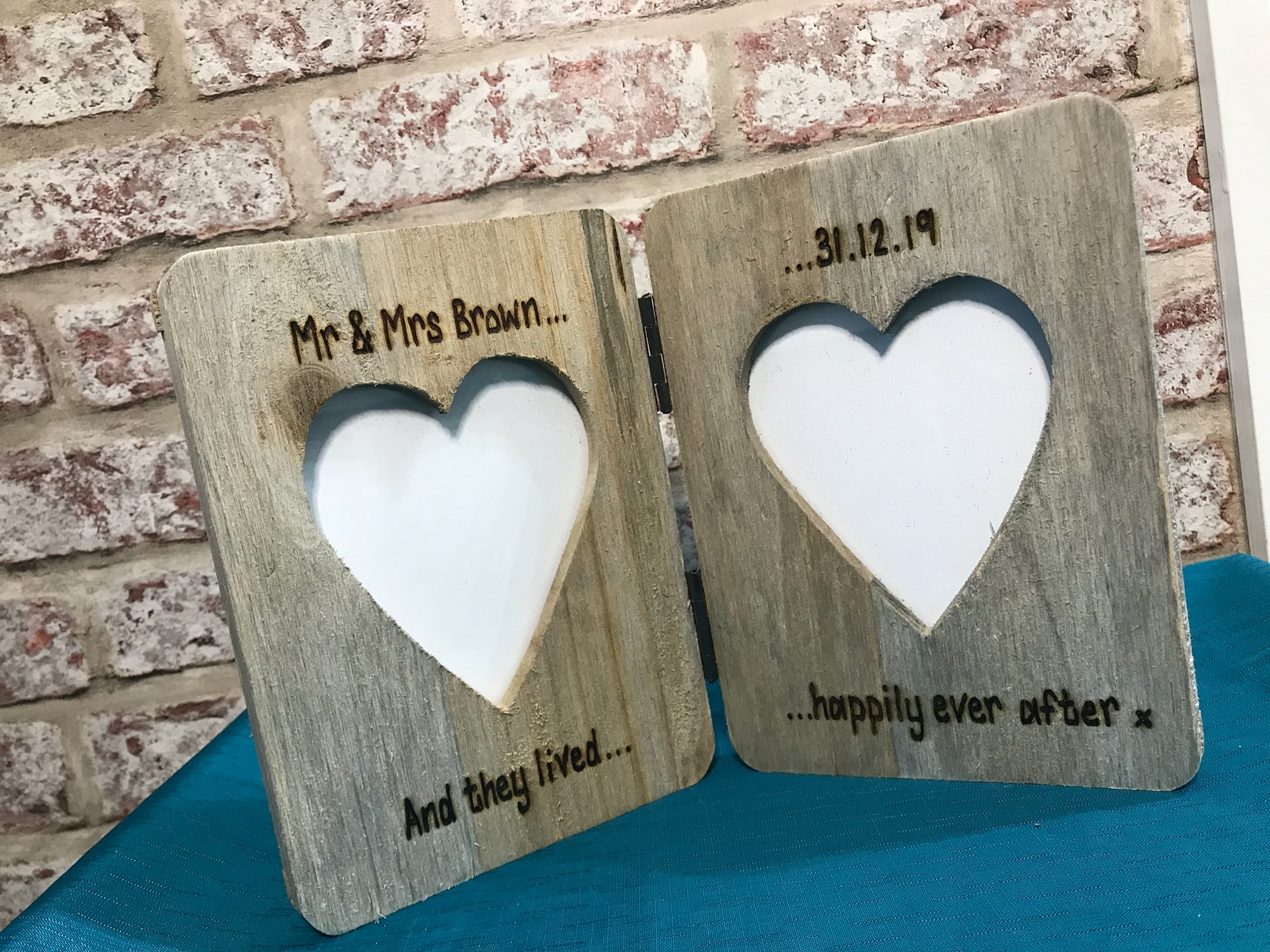 Mr and Mrs Wedding Double Photo Frame