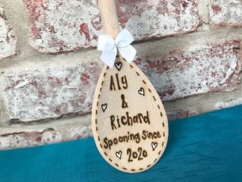 Mrs & Mrs ~ Spooning Since (Year) personalised wooden spoon