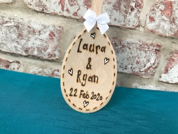 Mrs & Mrs ~ Wedding Personalised Wooden Spoon