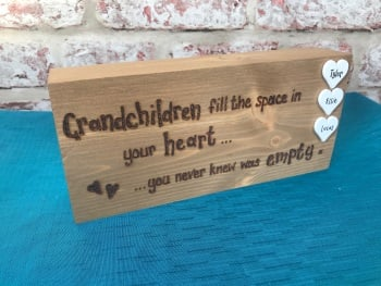 Nan/Grandad - Personalised Chunky Wooden Freestanding Block