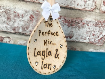 The Perfect Mix ~ Wedding Personalised Wooden Spoon